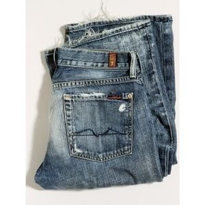 7 For Mankind Distressed Blue Jean's